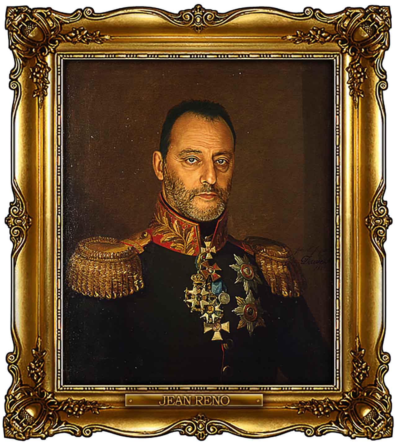 Artist Turns Famous Actors Into Russian Generals - Jean Reno