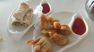 Sesame Prawn Rolls and Deep Fried Wontons @ Easy House