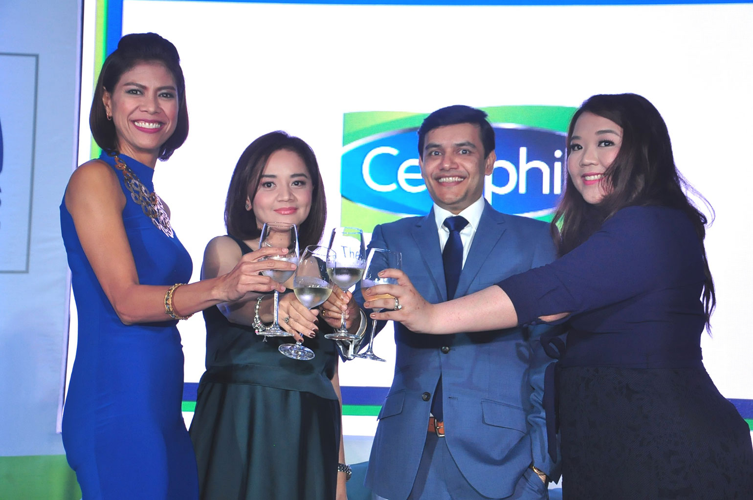 7 Celebratory-toast-of-Galderma's-70th-anniversary-with-hosty-Suzi-Entrata,-Galderma-General-Manager-Jade-Silva-Netto-Ponoc-Galderma-Business-Unit-Head-for-Consumer-and-Catherine-Palma-Dilanco-Cetaphil-Senior-Brand-Manager