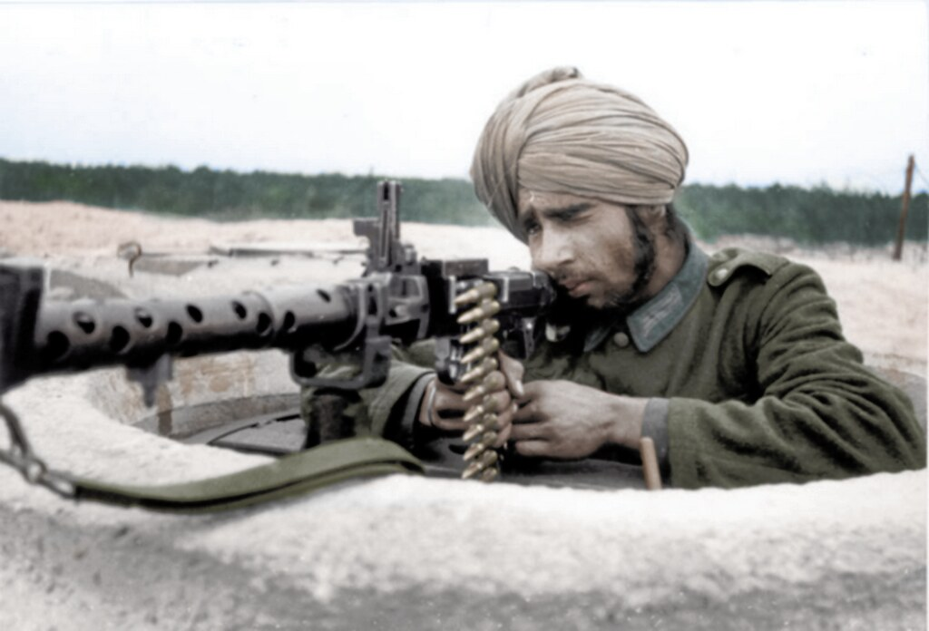 indian legion soldier with a german mg32 indian legion sol flickr