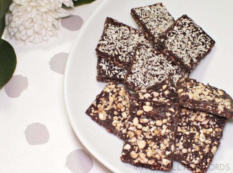 triple goodness coconut banana dark chocolate bark (4)