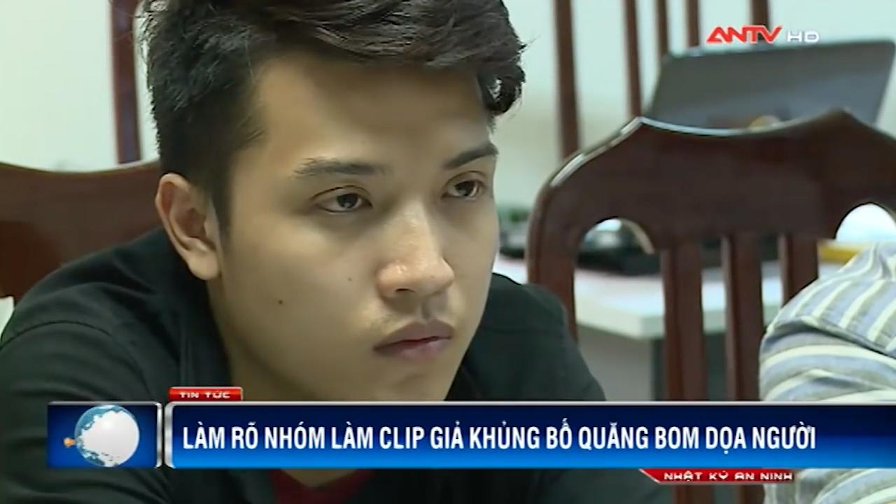 Nguyễn Thành Nam tại cơ quan công an. (Ảnh: ANTV)