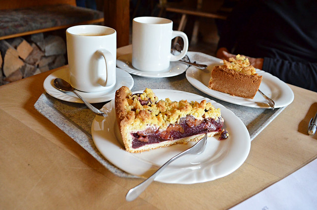 Kaffe un Kuchen with cherry pie, Germany