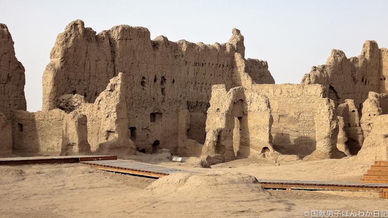 2014年世界文化遺産登録直後の交河故城(撮影:筆者)