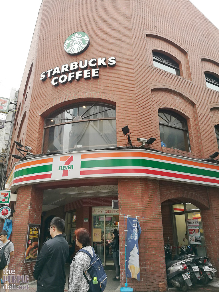 Starbucks and 7-Eleven Ximending