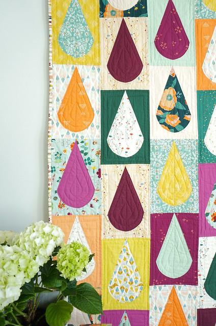 Rain drop quilt