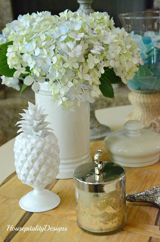Hydrangeas-Pineapple-Ironstone-Housepitality Designs
