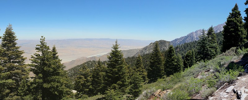 Panorama view east over the desert from the Fuller Ridge Trail