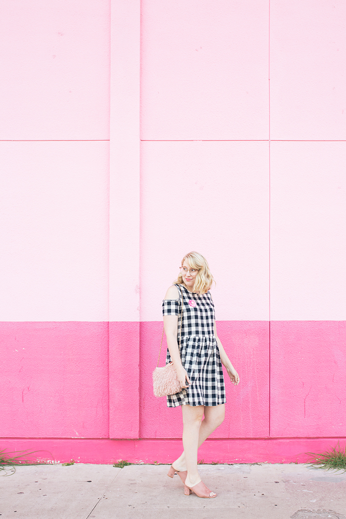 austin fashion blogger writes like a girl gingham dress pink mules7