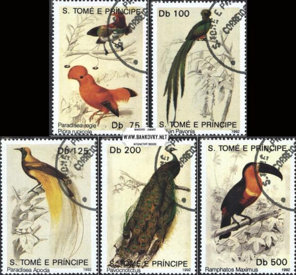 Známky Svätý Tomáš 1992 Vtáci, razítkovaná séria