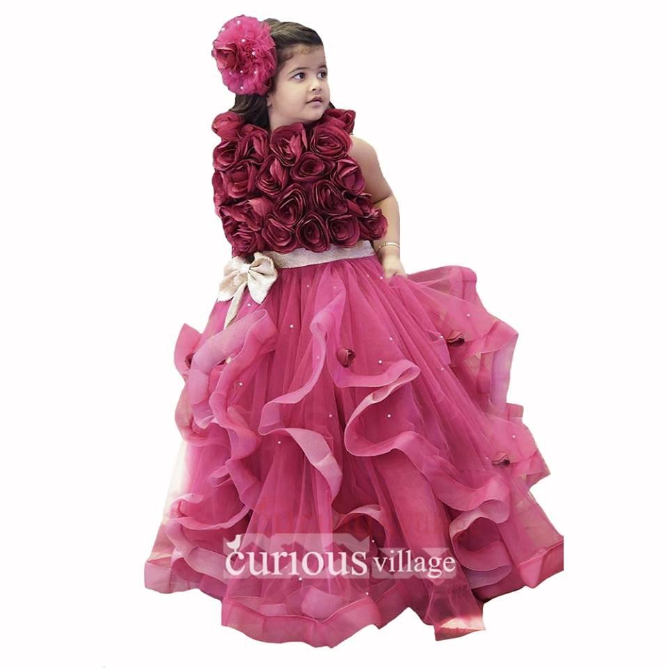 ... Janyas Closet Wine Roses Dress At Rs. 11500 | By CuriousVillage