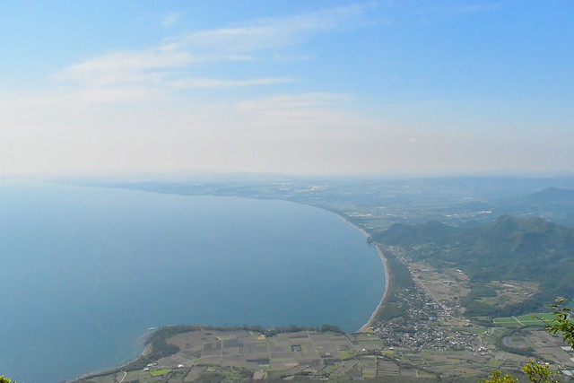 開聞岳9合目から眺める海の展望