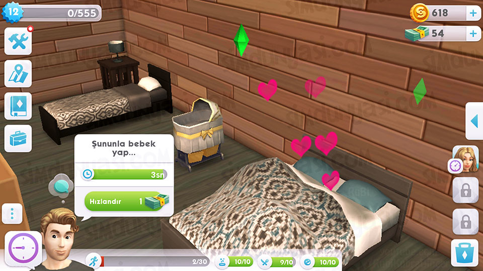 The Sims Mobile - Bebek Yap Serüveni - Bebek Yapma Çalışmaları