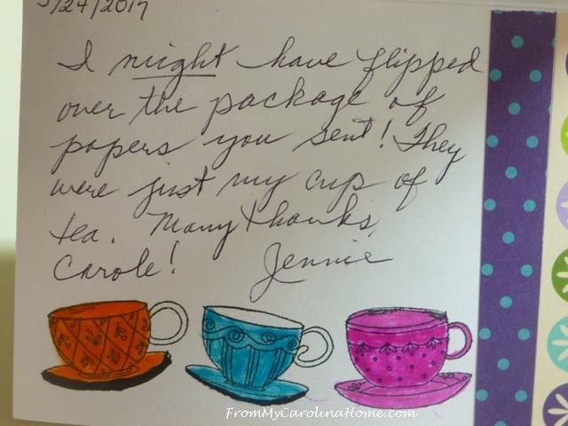 Jennie's Cards at From My Carolina Home