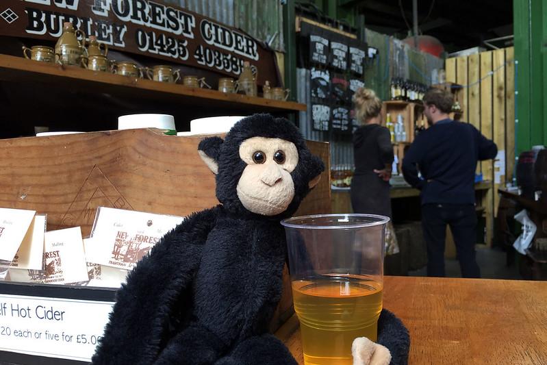 Monkey likes cider