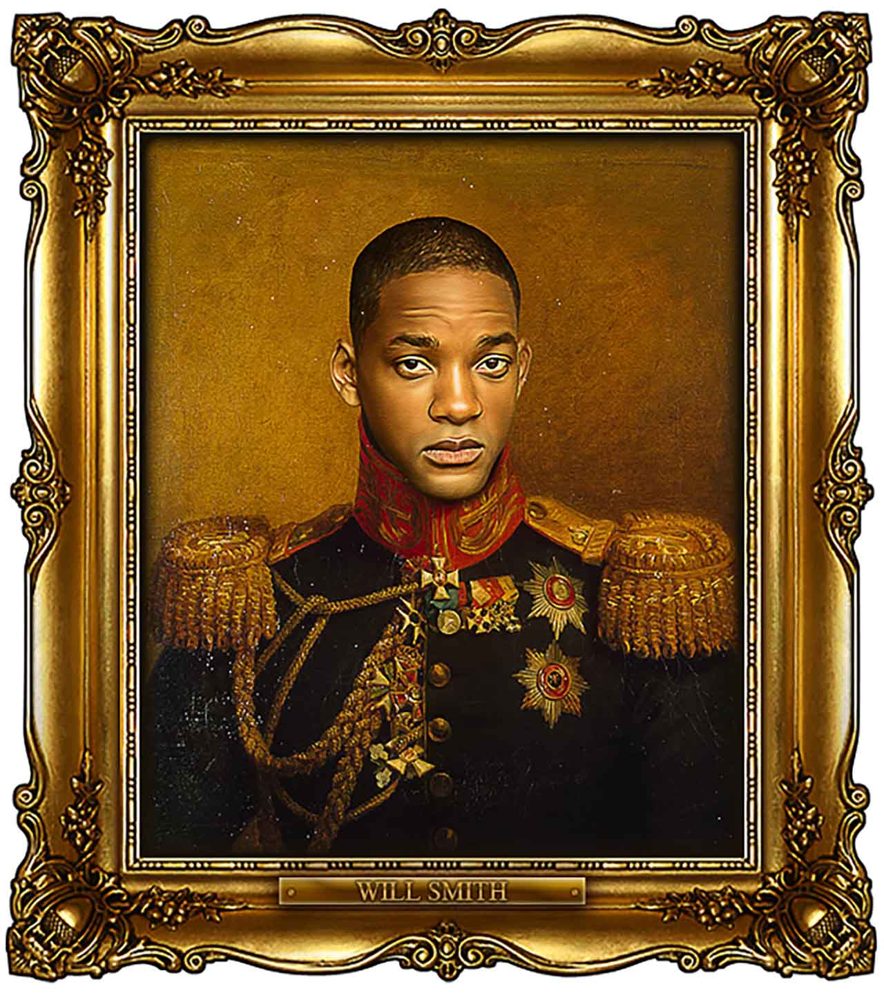 Artist Turns Famous Actors Into Russian Generals - Will Smith