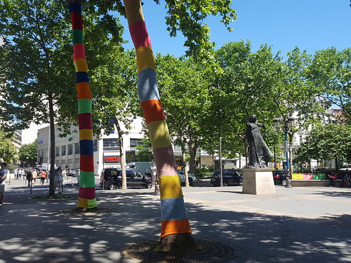 Yarn bombing pour Tricot'Onze