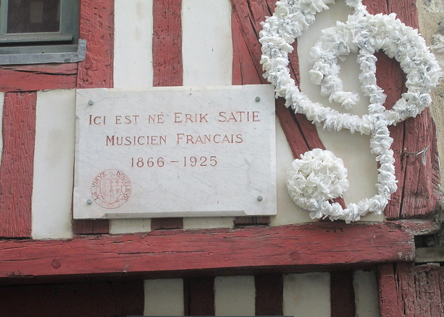 Honfleur, Erik Satie's Birthplace Plaque
