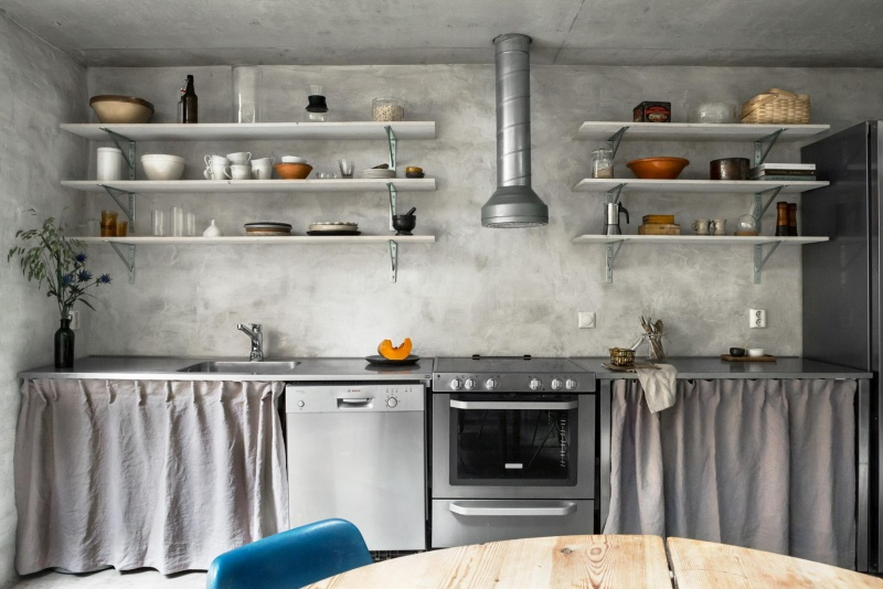 A Beautiful Concrete Swedish Home