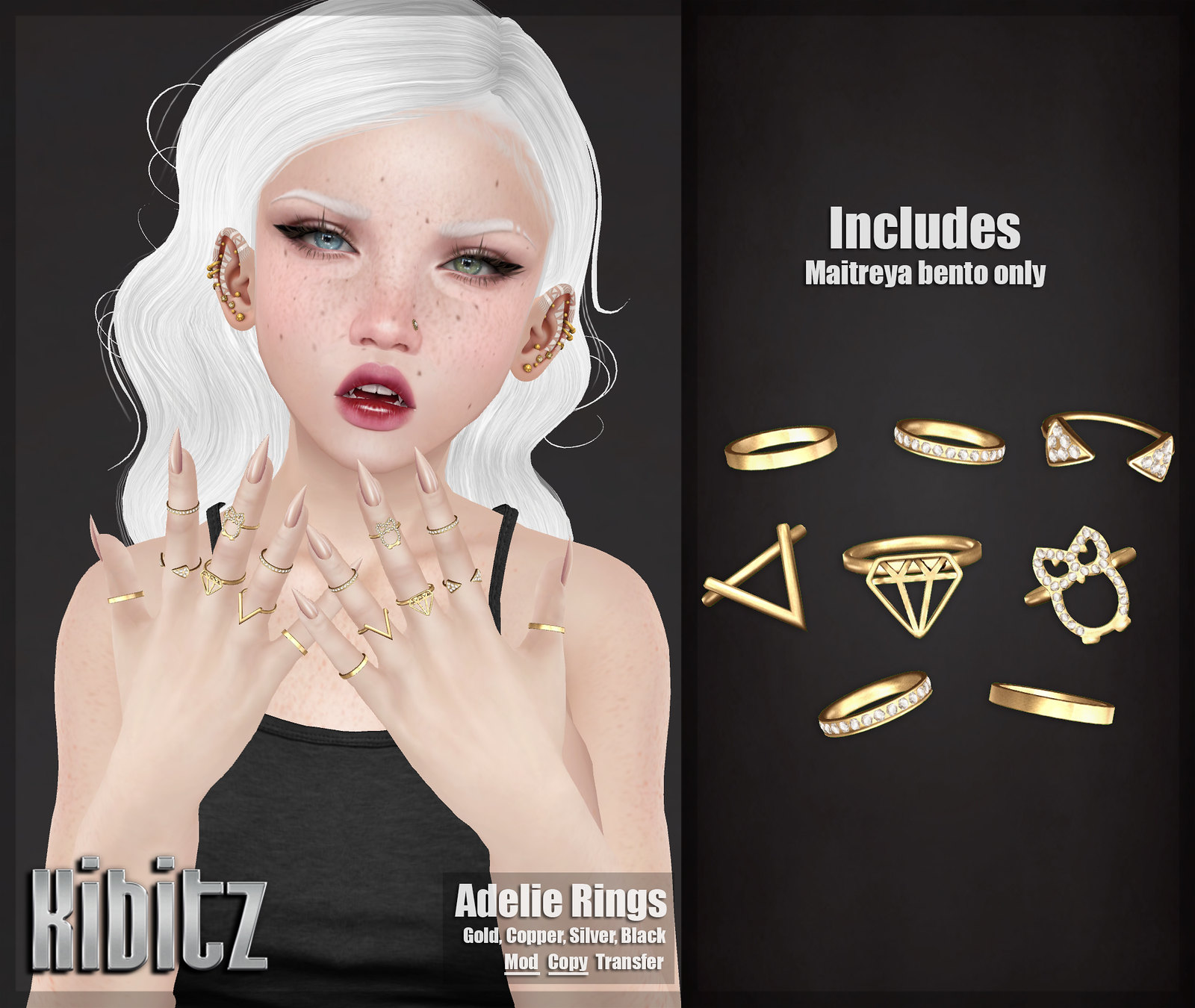 kibitz adelie rings vendor