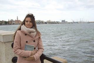 Noicattaro. Stefania Meneghella in tv front