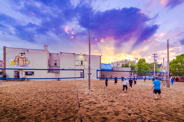 Heavenly Sunset on Volleyball