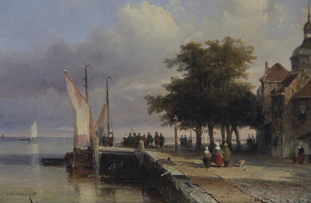 Detail - The Groothoofd, Dordrecht, Jan Weissenbruch, 1845