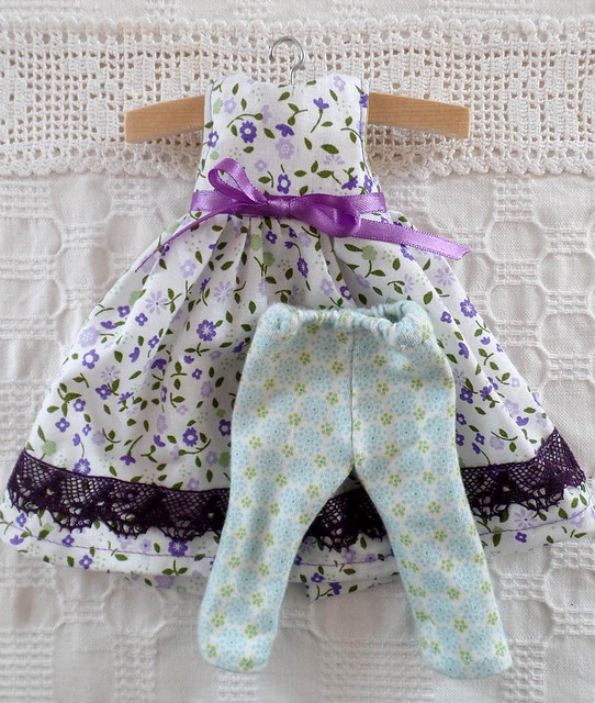 20cm waldorf doll flower dress 1