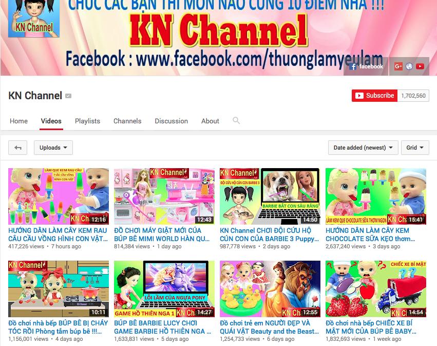 KN Channel - một kênh kết hợp giữa review đồ chơi và hoạt hình 3D 