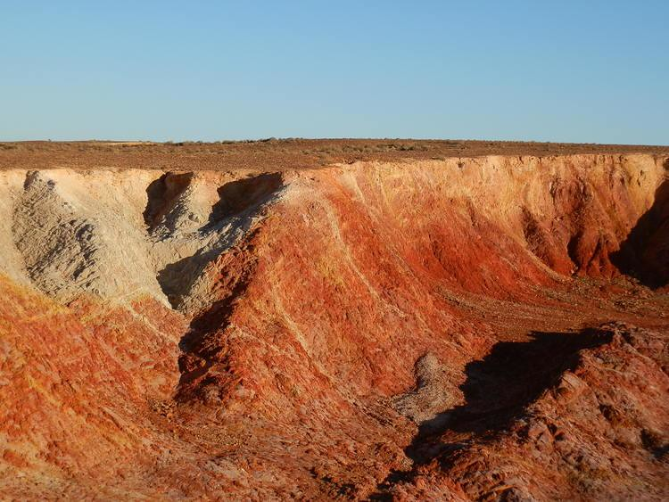 Ochre Pits at Sunset, via Lyndhurst, Outback South Australia