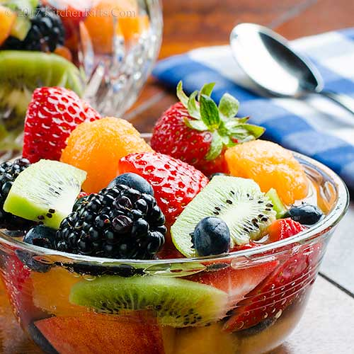Fruit Salad with Champagne