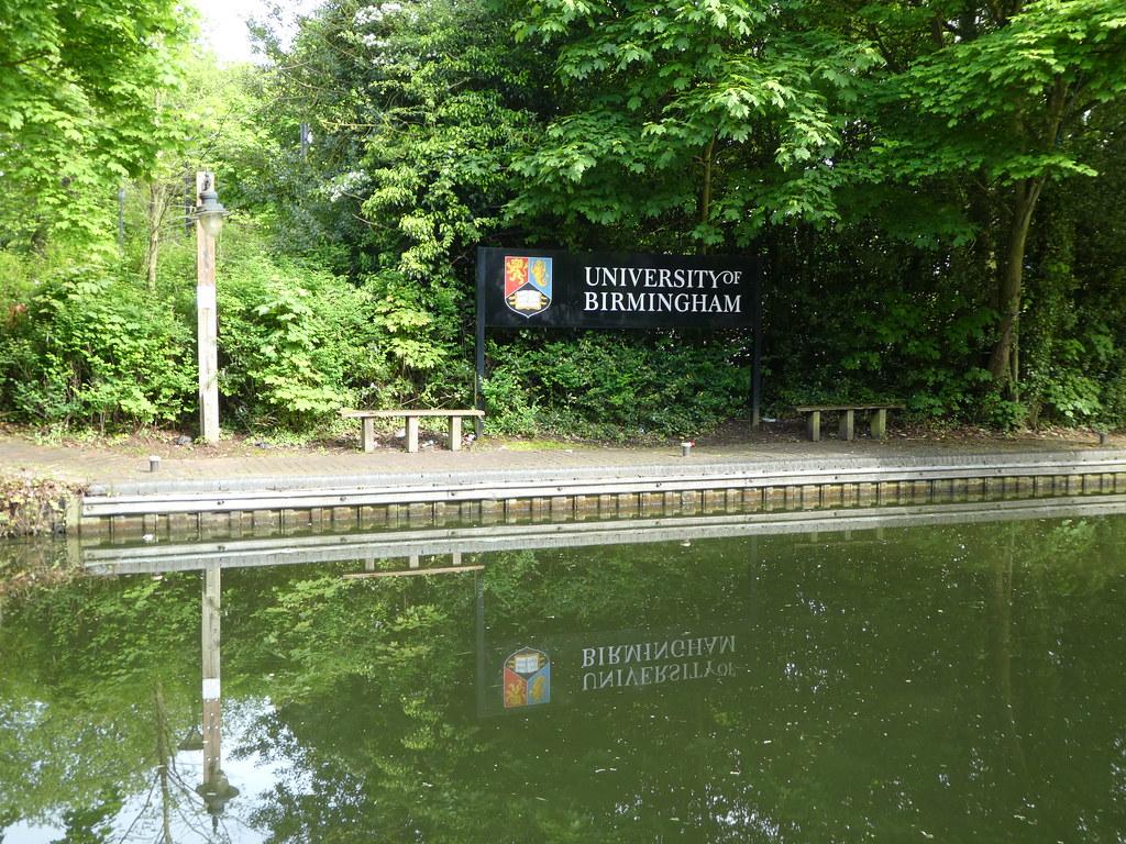 Worcester & Birmingham Canal, University of Birmingham