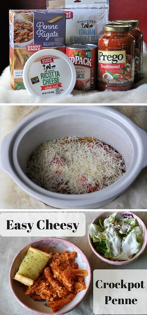 Easy Cheesy Crockpot Penne Recipe