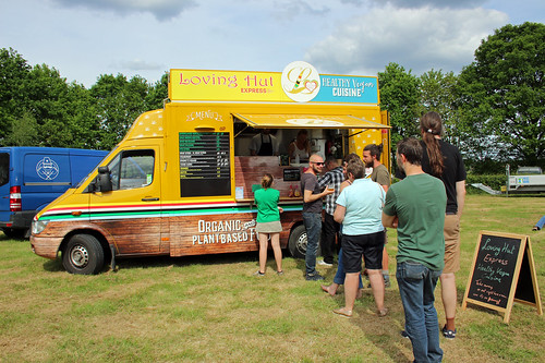 The vegan food truck (aka the reason I go to the sheep shearing festival)