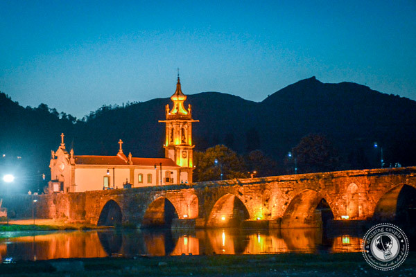 Ponte de Lima Bridge At Night