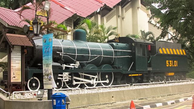 蒸気機関車が置かれた国立博物館