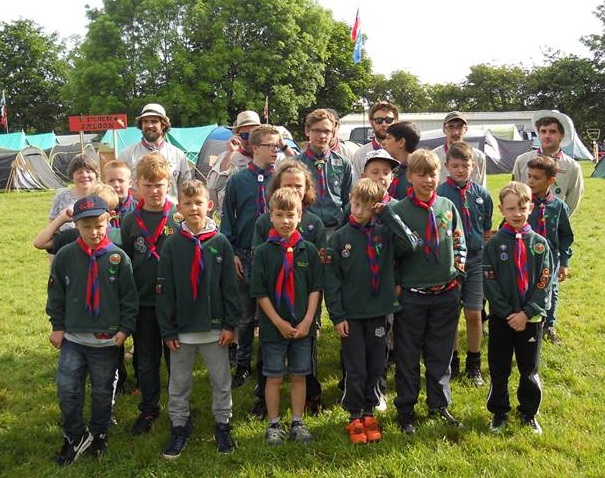 Cubs, Scouts and leaders at District Camp 2017