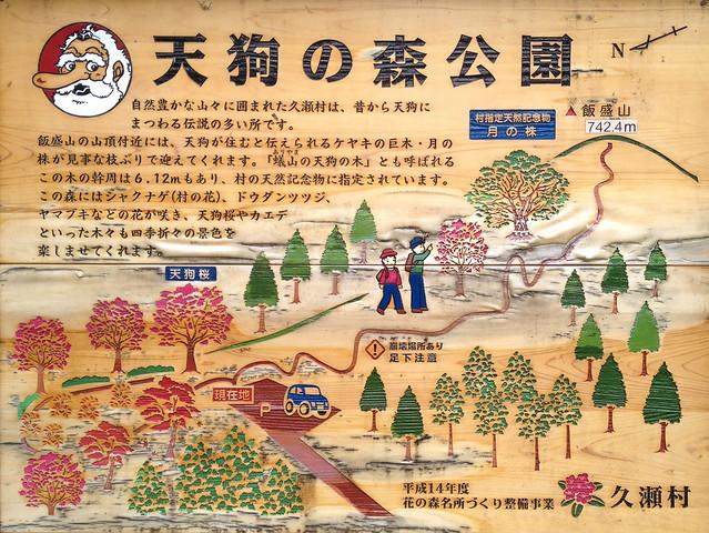 飯盛山 天狗の森公園 案内板