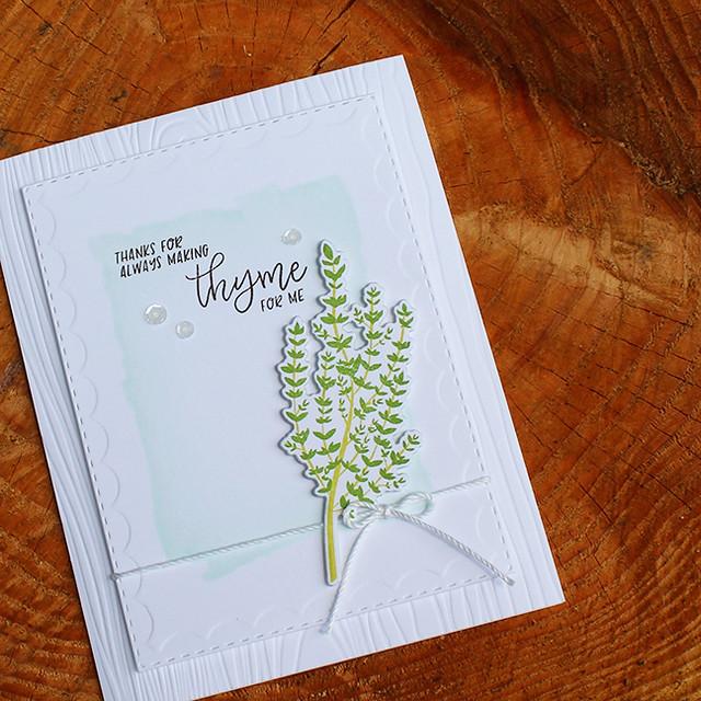Making Thyme Card 4
