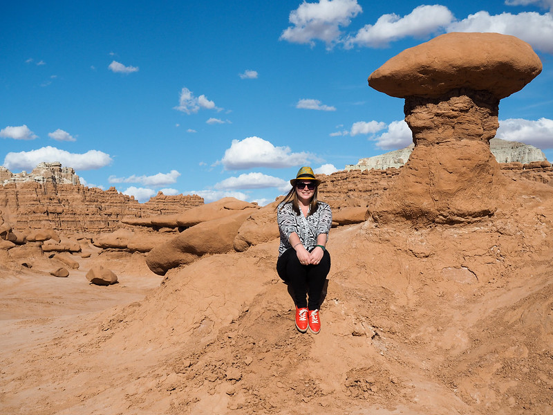 Amanda at Goblin Valley