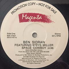 BEN SIDRAN:SPACE COWBOY(LABEL SIDE-A)