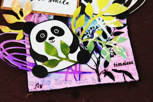 Meihsia Liu Simply Paper Crafts Mixed Media Tag Critters Panda Simon Says Stamp 5