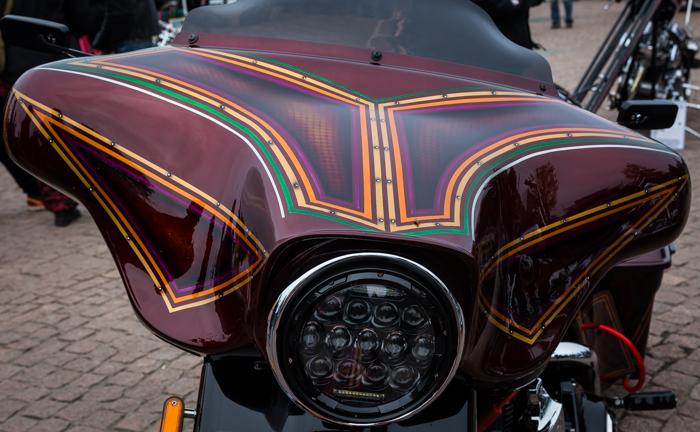 Lahti Helaride moottoripyörä lepakkokate batwing