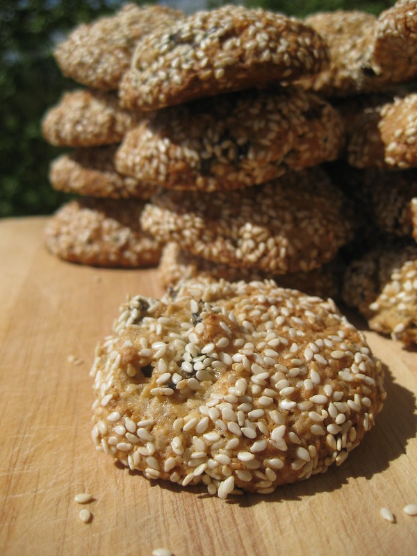Oatmeal Cookies with Sesame and Prunes