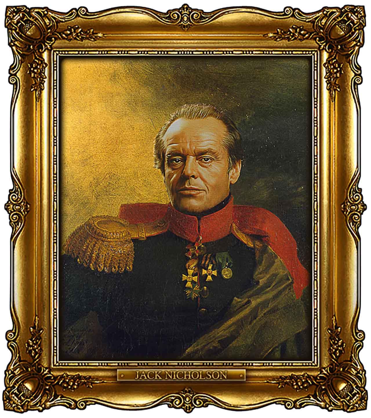 Artist Turns Famous Actors Into Russian Generals - Jack Nicholson