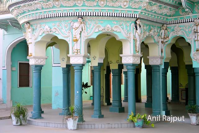 Pillars , Shekhawati and Italian style , haveli at Churu