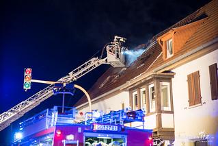 Dachstuhlbrand Raunheim 27.05.17
