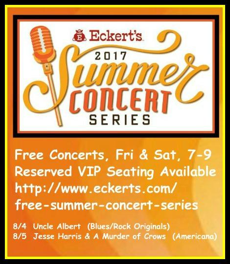 Eckert's Summer Concerts 8-4, 8-5-17