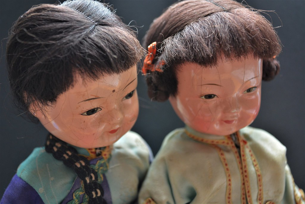 Chinese Composition Dolls Vintage Jointed Dolls Made Entir Flickr