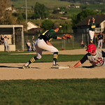 Matt Pidlisecky slides to first (photo submitted)